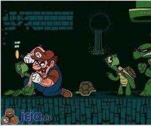 Mario vs żówie ninja