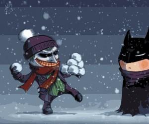 Nawet Batman ma dosyć śniegu...