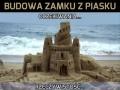 Budowa zamku z piasku