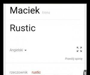 Ten moment, kiedy masz na imię Maciek
