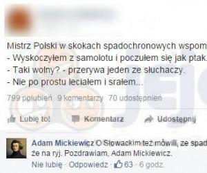 Mickiewicz ponownie atakuje