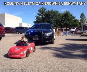 Kolejny nieletni za kierownicą schwytany