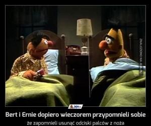 Bert i Ernie dopiero wieczorem przypomnieli sobie