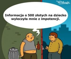 Wiadomość o 500 złotych