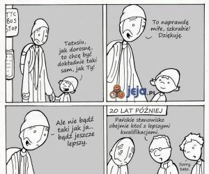 Ciężko być dobrym ojcem...