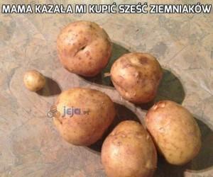 Mama kazała mi kupić sześć ziemniaków