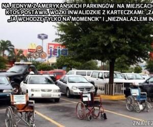 Fajna akcja na parkingu dla inwalidów