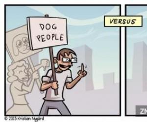 Miłośnicy psów vs. miłośnicy kotów
