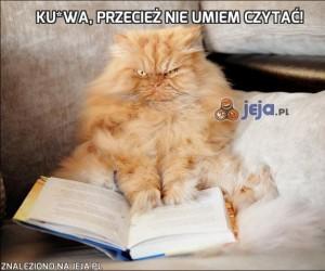 Ku*wa, przecież nie umiem czytać!