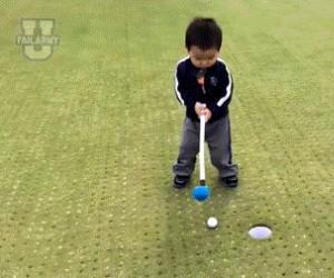 Gdy próbuję grać w golfa...