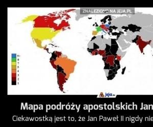 Mapa podróży apostolskich Jana Pawła II