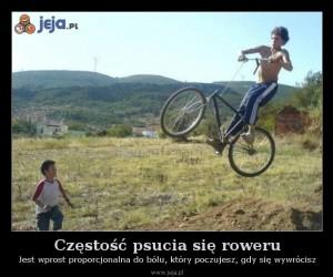 Częstość psucia się roweru