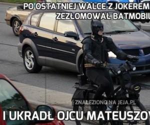 Po ostatniej walce z Jokerem Batman zezłomował Batmobil