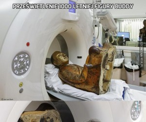 Prześwietlenie 1000 letniej figury Buddy