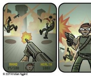 Intensywna gra w FPSa