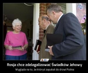 Rosja chce zdelegalizować Świadków Jehowy