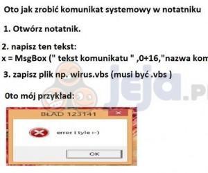 Twój własny błąd Windowsa