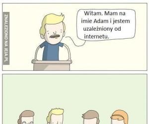 Jestem uzależniony od internetu