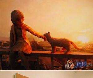 Złożona sztuka: rzeźba + obraz