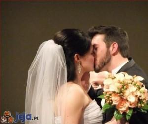 Niezwykłe zdjęcie ślubne