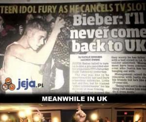 Bieber nigdy nie wróci do UK