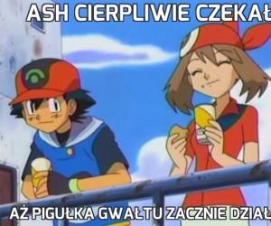Ash cierpliwie czekał