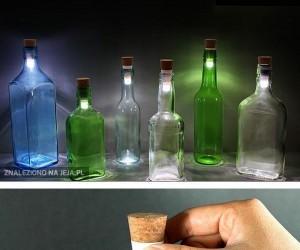 Butelki z lampkami LED