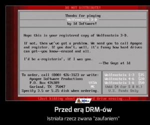 Przed erą DRM-ów