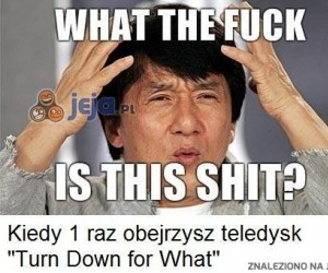 Kiedy pierwszy raz obejrzysz teledysk Turn Down for What
