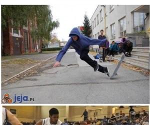Photoshop dopadł skateboardera