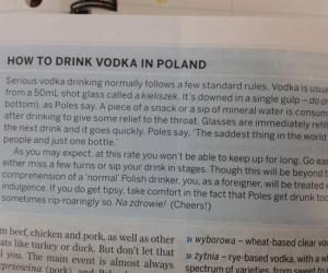 Jak pić wódkę w Polsce?