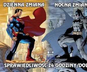 Superman i Batman na zmianę