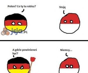Kiepski Komiks z PolandBallem stworzony zgodnie z instrukcją