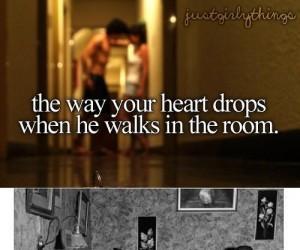 To, w jaki sposób Twoje serce bije, kiedy on wchodzi do pokoju...