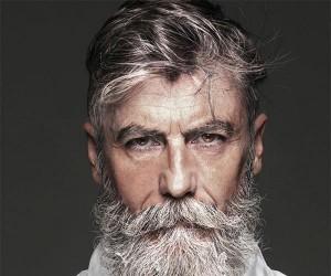 60 letni mężczyzna został modelem, gdy zapuścił brodę