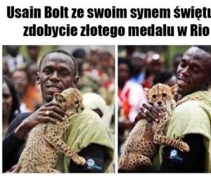 Usain Bolt z synem