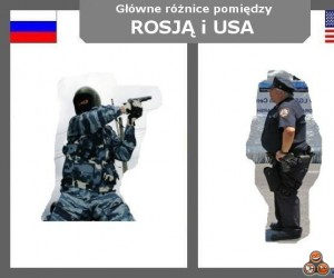 Rosja vs USA - Policja