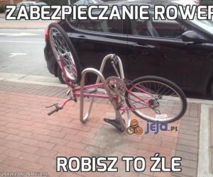 Zabezpieczanie roweru