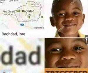 Czyżby w końcu odnalazł tatę?