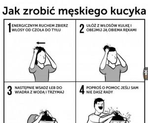 Jak zrobić męskiego kucyka