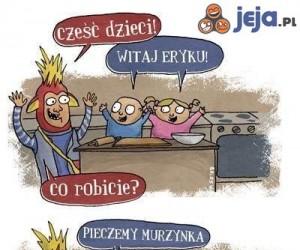 Dzieci za kuchennym stołem