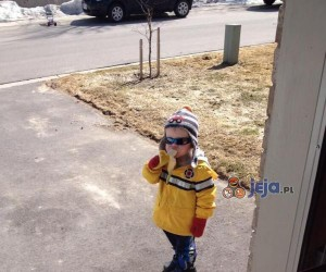 Chłopiec z bananem podbija internet