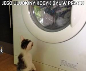 Jego ulubiony kocyk był w praniu