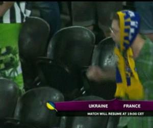 Kibicujący Ukrainiec