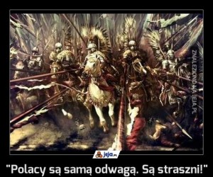 """""""Polacy są samą odwagą. Są straszni!"""""""