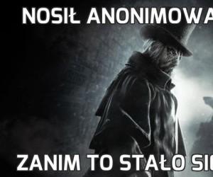 Nosił anonimową maske