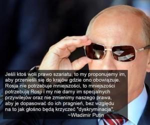 Putin na temat mniejszości