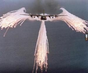 Anioł przynoszący demokrację
