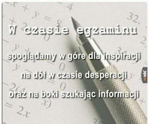 W czasie egzaminu