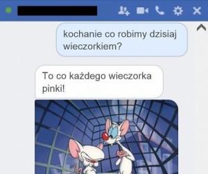 Pewnie dlatego on jest Pinki...